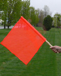 fluorescent safety flag with dowel